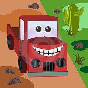 Happy Truck Royalty Free Stock Photo - Image: 23973425