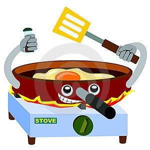Frying Pan Fries Stock Photos - Image: 23973503
