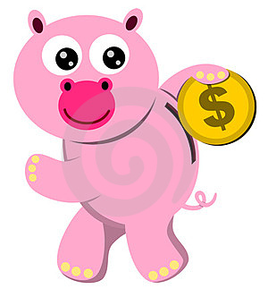 Piggy Savings Royalty Free Stock Photos - Image: 23973678