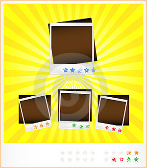Set Template Old Photoframeworks Stock Photos - Image: 23980693