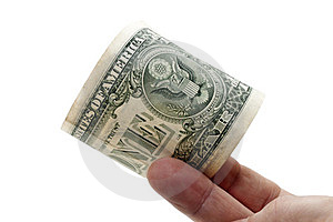 One Dollar Banknote In A Fingers Royalty Free Stock Photography - Image: 23982557