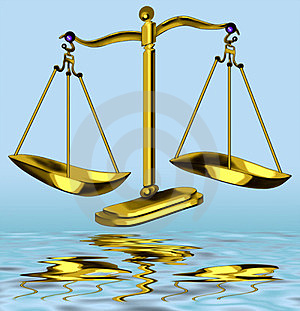 Tipping Scales O Justice Stock Photography - Image: 23988022