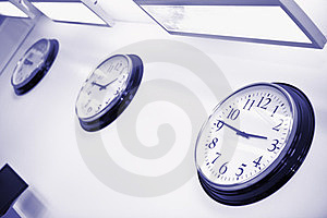 Wall Clocks In Office Stock Photography - Image: 23990012