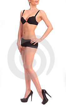 The Girl In Black Lingerie Royalty Free Stock Photo - Image: 23990025