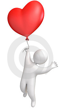 Man Flying In A Balloon Stock Image - Image: 23998501