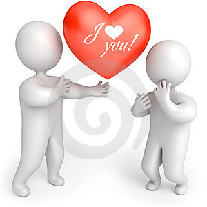 Man Gives Woman Heart Stock Images - Image: 23998524