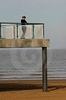 All'estremità del pilastro Fotografie Stock