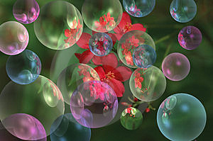 Colorful bubbles Stock Image