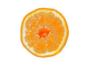 Half an orange Stock Photography