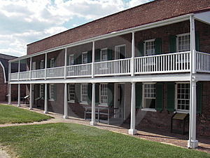 Offizier-Viertel-Fort McHenry Stockbild