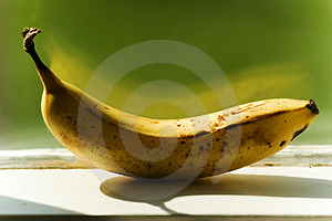 Banana On Ledge Stock Photos