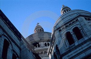 Sacre Coeur Dome Royalty Free Stock Photos