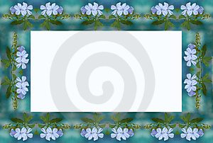 Blue Flower Frame Stock Image