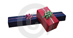 Isolated Giftboxes Stock Photos