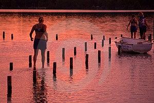 Översvämmat Fotografering för Bildbyråer
