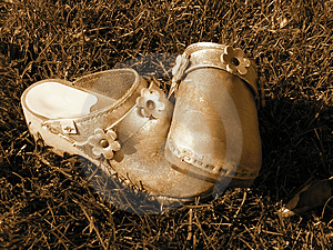 Child's Shoes Free Stock Photography
