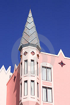 Pink castle Royalty Free Stock Photos