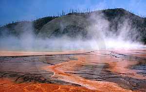 Grand Prismatic Hot Spring Free Stock Image