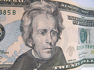 Twenty Dollar Bill Royalty Free Stock Photo