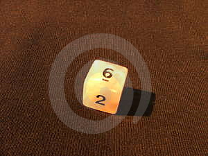Single Dice 2 Free Stock Image