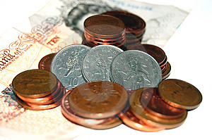 Three Lions On Coins Free Stock Photography