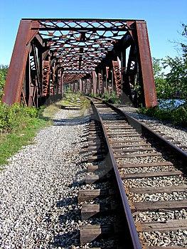 Ponte velha da estrada de ferro Imagem de Stock