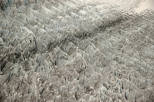 Crevasse Pattern Of Mendenhall Glacier Free Stock Photography