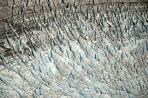 Mendenhall Glacier Crevasses Royalty Free Stock Photos