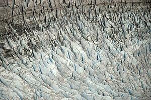 Fissuras da geleira de Mendenhall Fotos de Stock Royalty Free