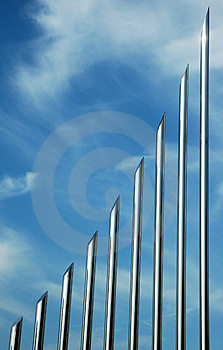 Metallic Tubes Stock Photography