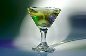 Martini exponeringsglas Royaltyfri Fotografi