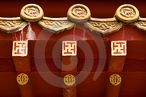 Roof of Chinese Temple Stock Photography