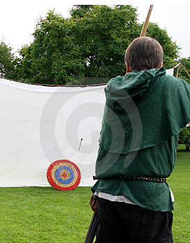 Hitting the target Royalty Free Stock Photo
