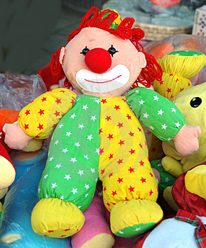 Ragdoll clown Stock Images