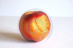 Bitten Nectarine Free Stock Images