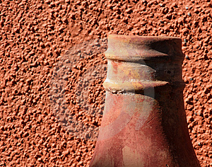 Stucco And Chimney Free Stock Image