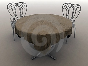 Table for 2 Royalty Free Stock Photos