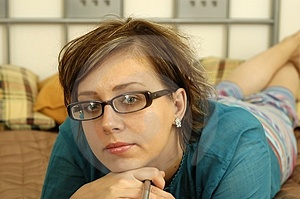 Woman With Glasses Free Stock Photography