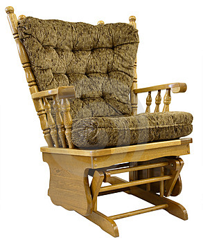 Oak Glide Rocking Chair Stock Photos - Image: 2404203