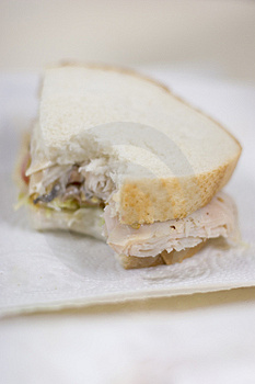 Sandwhich With Bite Taken Out Royalty Free Stock Photo - Image: 2406145