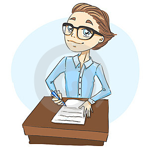 Boy Writing A Letter Stock Photo - Image: 24006410