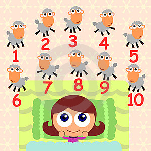 Counting Sheep Royalty Free Stock Images - Image: 24006859