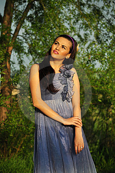 Woman In The Forest Royalty Free Stock Photo - Image: 24007555