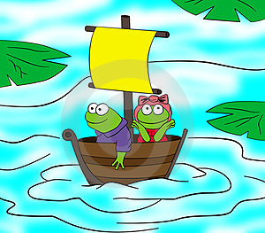 Frogs Journey Royalty Free Stock Photography - Image: 24007627