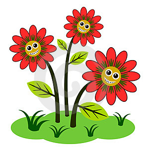Happy Flowers Royalty Free Stock Photos - Image: 24007818
