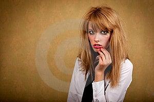 Girl With A Dirty Makeup Stock Photos - Image: 24012673
