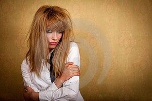 Girl With A Dirty Makeup Stock Image - Image: 24012721