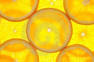 Orange Slices Background / Macro / Back Lit Stock Photos - Image: 24017713