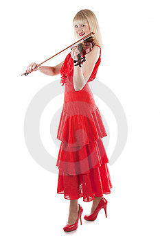 Image A Girl Playing The Violin Royalty Free Stock Photos - Image: 24023368