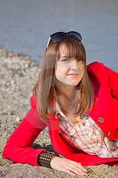 Girl In Red Coat Royalty Free Stock Image - Image: 24025226